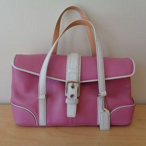 Coach 9267 Hamptons Pink Leather Satchel Handbag